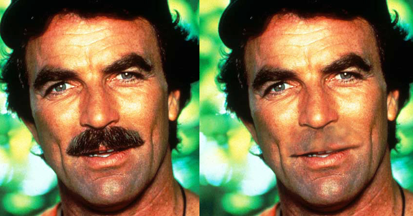 Tom Selleck sem bigode