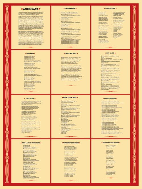 Americana Lyrics Print