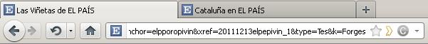 Captura de pantalla de una URL de El País, del estilo elpppopropivin&xref=20111212elpepevin_1&type=Tes&k=Forges