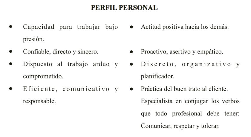perfil personal