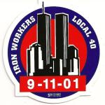 """Local 40 NYC_9/11 Commemorative Hard Hat Sticker"""