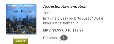 """Acoustic, Raw and Real c2010 by Shane O'Brien"""