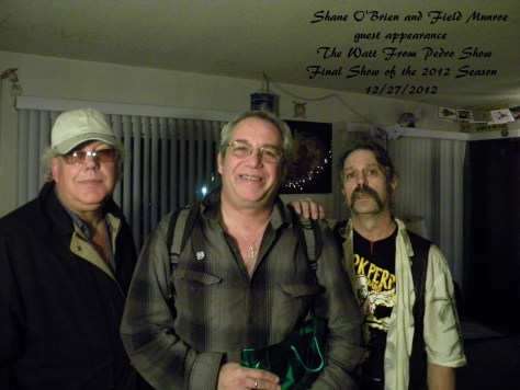 Field Monroe, Mike Watt and Shane O'Brien in The Wild Kingdom Studio