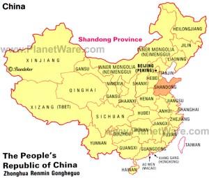 china-shandong-province-map