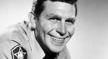 North Carolina legend Andy Griffith as Sheriff Andy Taylor on 'The Andy Griffith Show'.