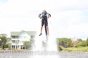 OBXjetpak owner and pilot Butch Stone (photo by OBXentertainment.com)