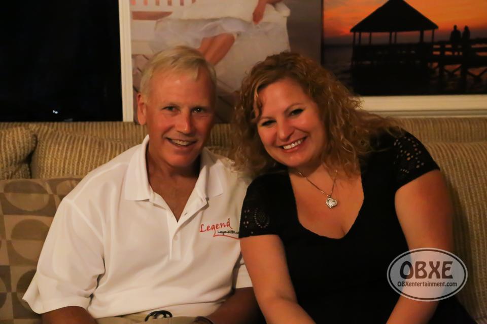 Author Joseph Waltenbaugh with Sue Artz on the set of the OBX Entertainment original series 'OBXE TV' on June 6, 2016 (photo by Matt Artz for OBXentertainment.com)