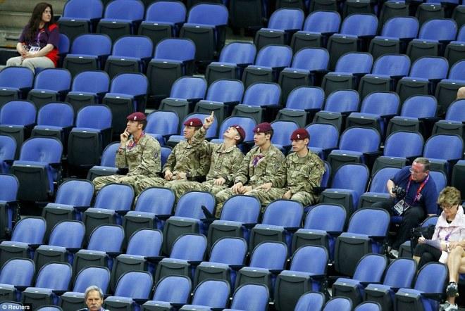 Empty seats at the Olympics