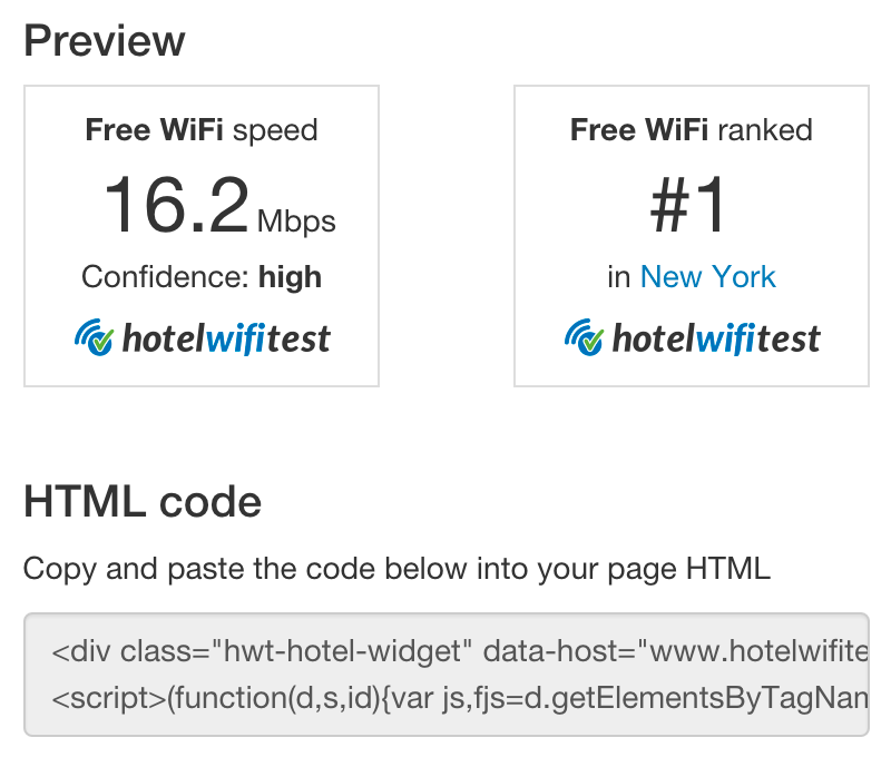Promote your Quality WiFi service with your Guests