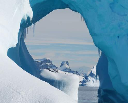 Iceberg Antarctica with arch way