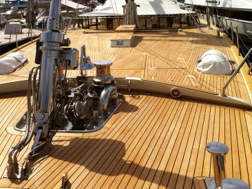 Finished teak deck