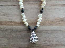 Ocean Tuff Jewelry - Adjustable Hebrew Cone Shell Necklace