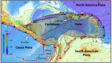 Figure 2 - Seismic and plate tectonic setting (Caribbean Region) [3]