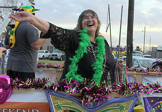 Penny LeLeux at Orange Mardi Gras