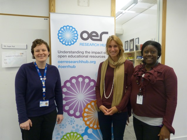 Megan Beckett (centre) with some of the OERRH team