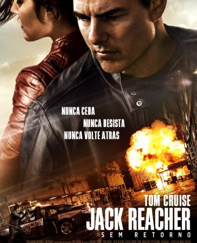 """Poster for the movie """"Jack Reacher: Nunca Voltes Atrás"""""""