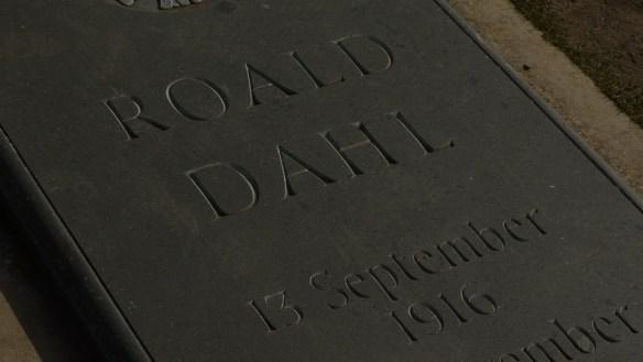 Roald Dahl's gravestone in Buckinghamshire
