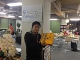 鹿児島県から松田さんに遠路はるばる大宮まで来ていただきました。鹿児島県のケーキもいただきまして、ありがとうございます!
