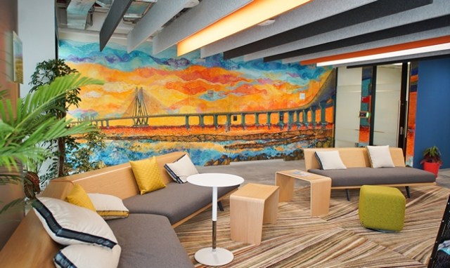 Facebook office Bombay wall mural