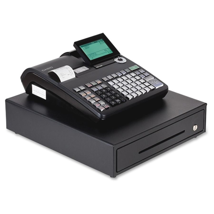 Casio PCR T2300 Electronic Cash Register With LCD Display Black - Office Depot