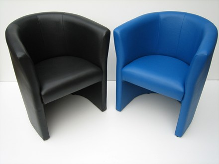 Jemini Tub Fabric/Vinyl Chair Blue, Black and Claret #officefurnituregibraltar