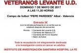 @LevanteUD y Albal jugarán un partido benéfico en favor de la donación de médula ósea