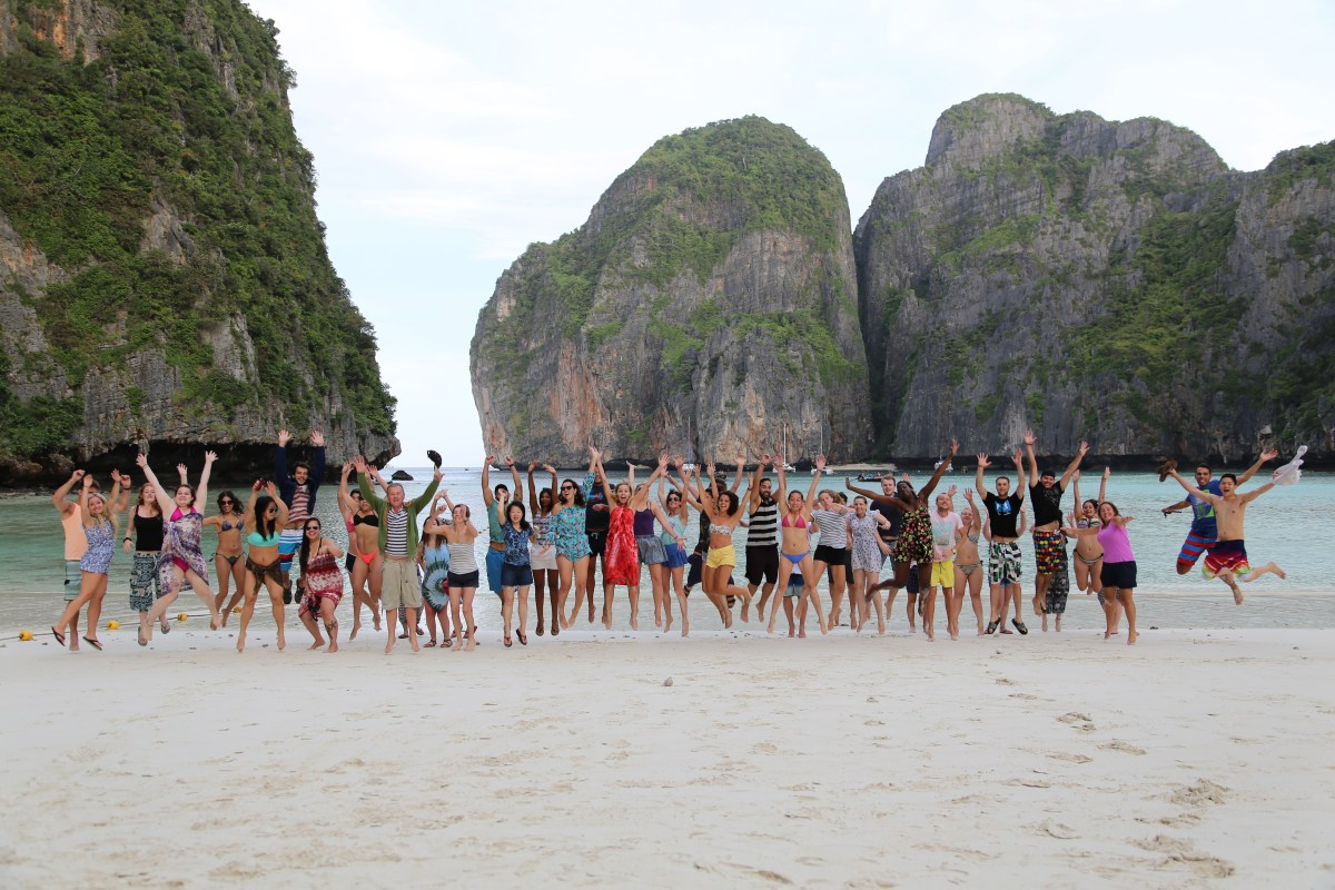 One Night on Maya Bay Beach on Koh Phi Phi Le