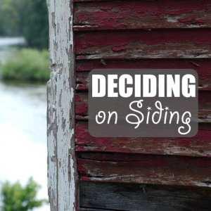 Deciding on Siding