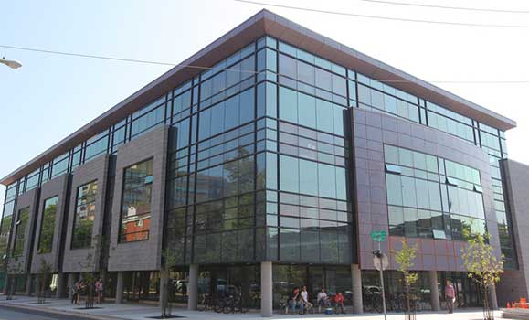 Canadian sustainable building Mona Campbell Building in Halifax, Nova Scotia.