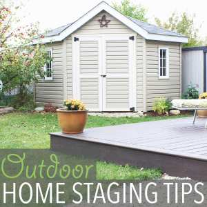 Home Staging Tips by Of Houses and Trees | When it comes to selling, your outdoor spaces need to be just as beautiful as your indoor spaces. Here are a few home staging tips focusing on the yard.