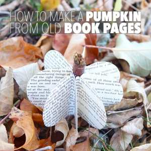 How to Make a Pumpkin from Old Book Pages