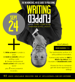 "Publish Your First Book When You Attend The ""Writing FLIPPED"" Bootcamp Hosted by @ofilispeaks … The No Nonsense, No BS Guide To Publishing"
