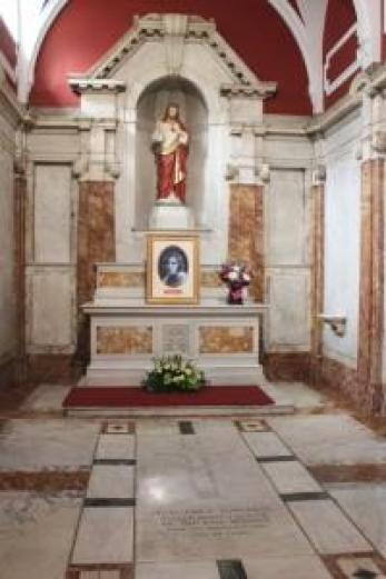 The Margaret Sinclair shrine at St Patrick's Edinburgh