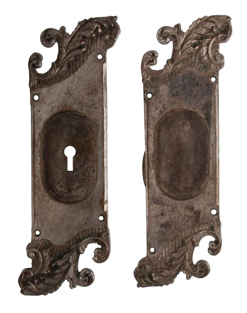 Snazzy Nickel Over Bronze Reading Pocket Door Back Plates E Pocket Door Hardware Brass Pocket Door Hardware Near Me Pocket Door Hardware Pair Nickel Over Bronze Reading Pocket Door Backplates Pair houzz-03 Pocket Door Hardware