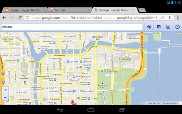Google Map view in Chrome Beta 28 for Android