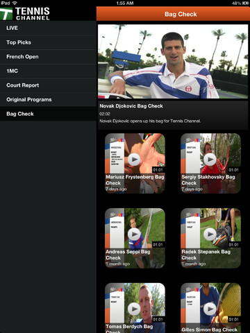 Watch Live Tennis on your iPad and iPhone 2013