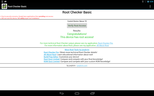 Android Root Checker