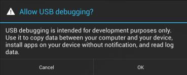 Allow USB Debugging?