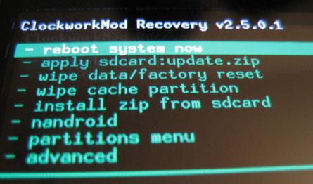 Nexus 4 - ClockworkMode Recovery