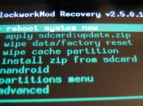 ClockworkMod Recovery for Nexus 7 (2013)