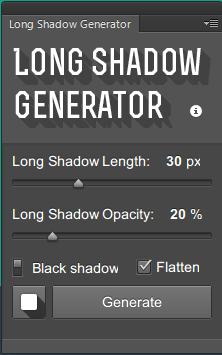Long Shadow Generator Plugin for Photoshop