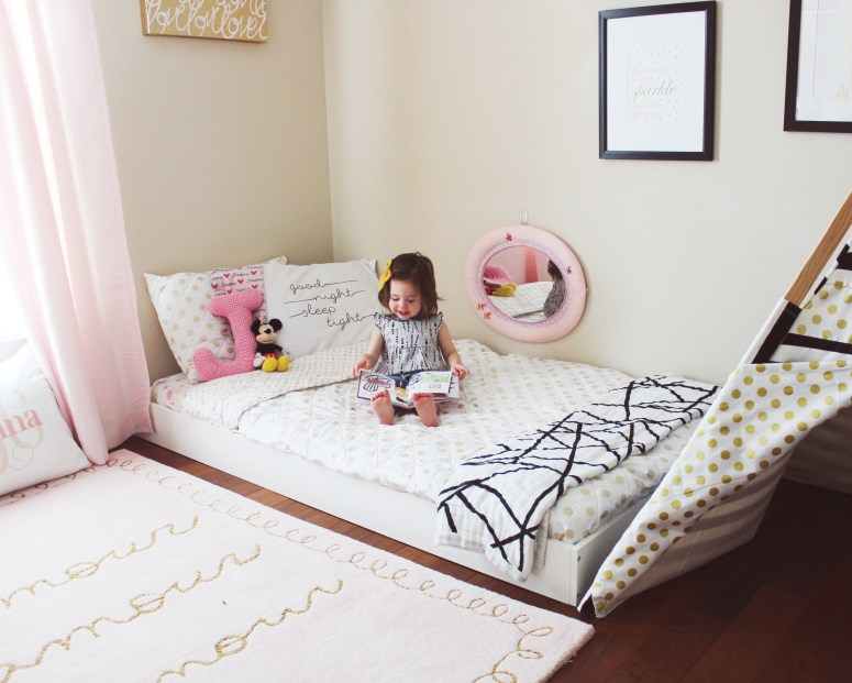 Johannas Updated Montessori Floor Bed Toddler Room
