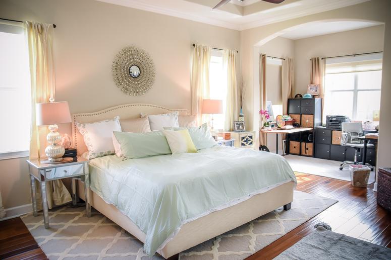 master bedroom refresh, home decor, master bedroom, decor, rugs, bedspread, home design, parents room