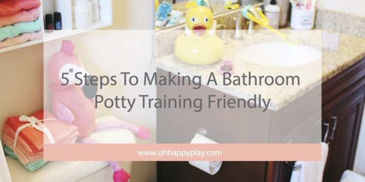 5 Steps To Making A Bathroom Potty Training Friendly