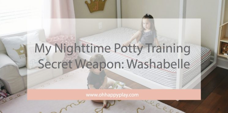 My Nighttime Potty Training Secret Weapon: Washabelle