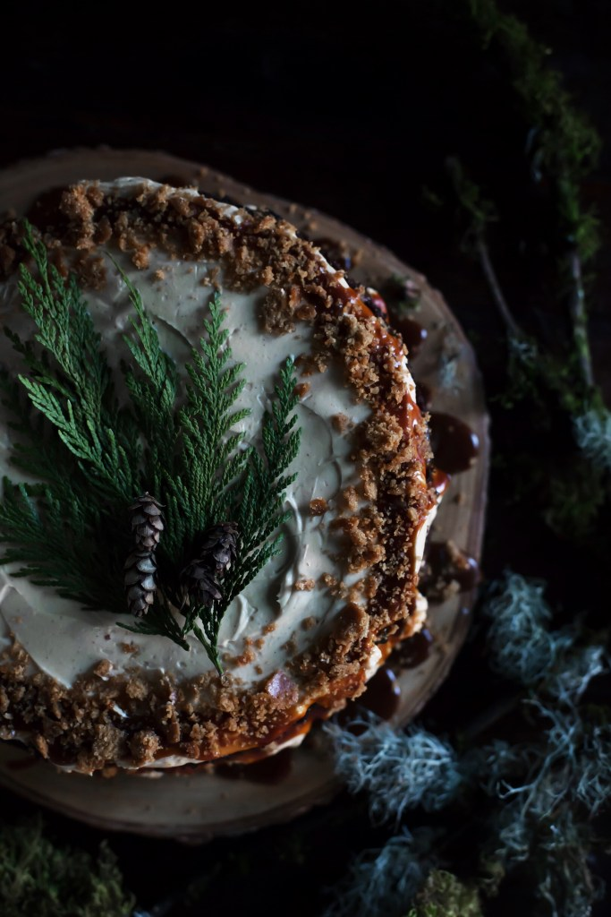 dark and smoky campfire cake // ohhoneybakes.com