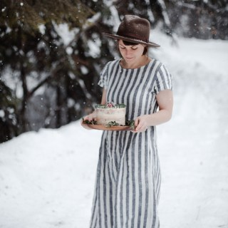 cranberry orange cake // a shoot with Woven Magazine and Pyne and Smith Clothiers