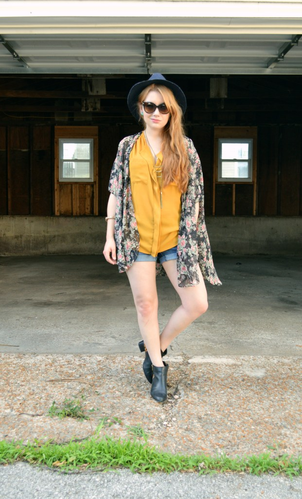 Floral Kimono - Leopard Naturalizer Booties - Summer Outfit (5)