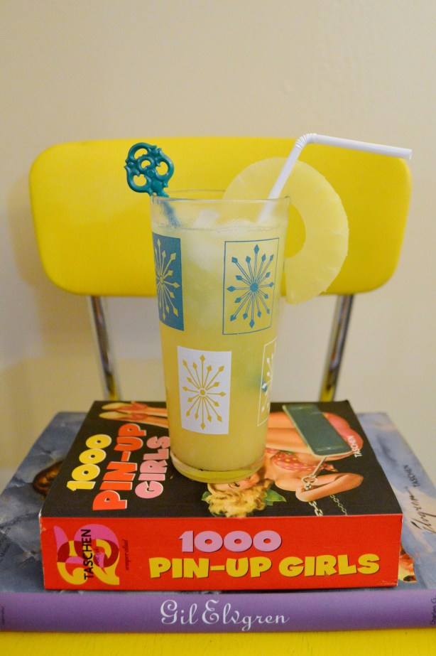National Rum Day Cocktail - Spiced Sailor Jerry Rum with Malibu Coconut Rum and Blended Pineapple Recipe - Oh Julia Ann (3)