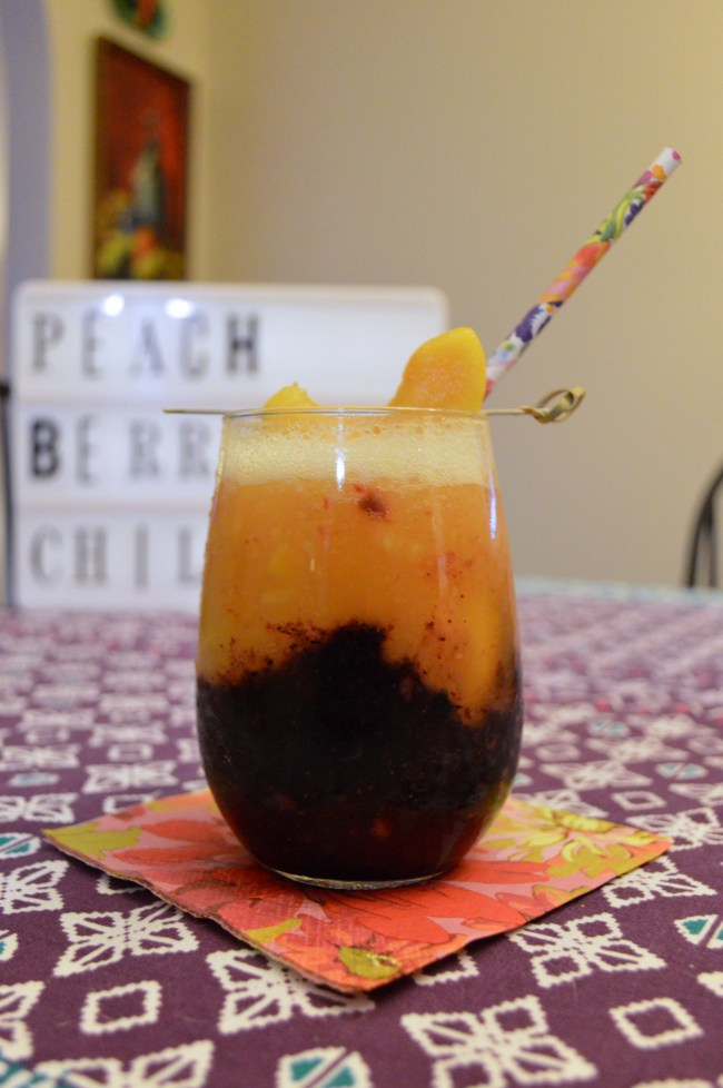 Drinks with Drizly | Peach Berry Chill Cocktail Recipe
